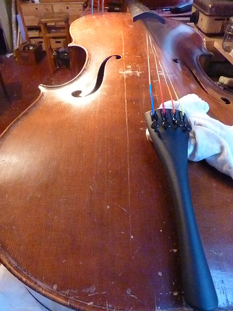 Bassbalkenriss Violoncello