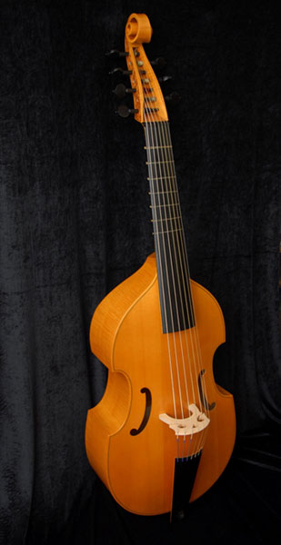 Seven string bass viol after Michel Collichon, 1683, string length 70cm